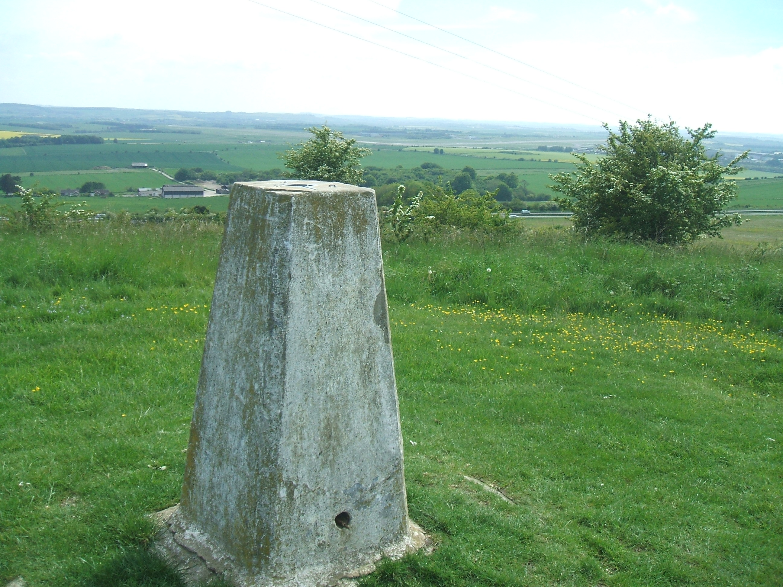 Northern trigpoint looking south